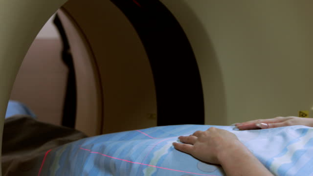 MRI scanning procedure in the hospital video