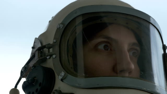 Scared and Suffering Cosmonaut Female video