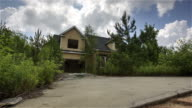 Scary Abandoned Residential House Dolly Timelapse video