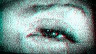 Scary Eye in TV Static. HD video