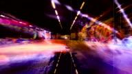 Scary Grunge Graffiti Tunnel. HD video