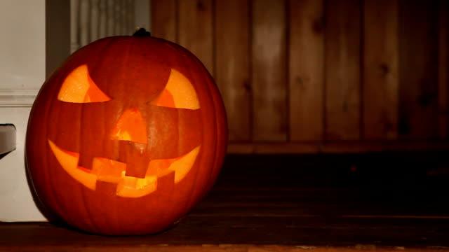 Scary Halloween Jack O' Lantern on Loop video