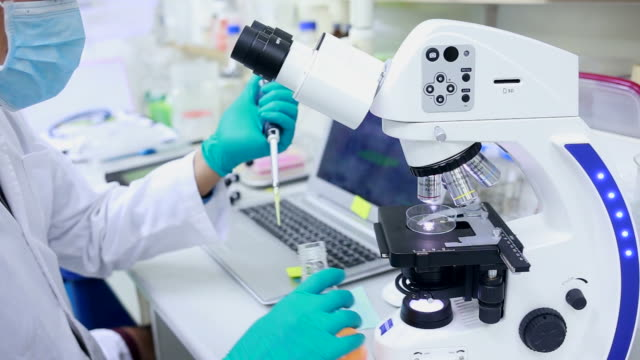 Scene of testing in Laboratory video