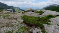 Scenery With Mountain Peaks And Cloudy Sky video