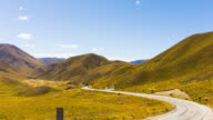 Scenic at Lindis Pass, Otago, New Zealand video