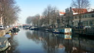 Scenic Canal In Central Amsterdam video