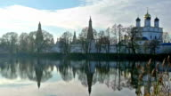 Scenic landscape with Joseph Volokolamsk Monastery video