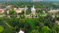 Scenic Lawrence University Campus, Appleton Wisconsin, Aerial View video