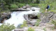 Scenic Mountain Waterfall video