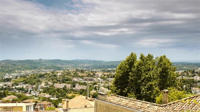 Scenic overview of Grasse, Cote D'Azur France video