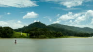 Scenic Panama Canal Sailing Through Gatun Lake video