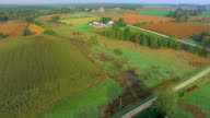 Scenic Rural Midwest Heartland Flyover, Landscape With Farms, Barns, Silos video