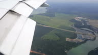 Scenic view from the window of the passenger plane video