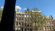 CLOSE UP: Scenic view of beautiful traditional buildings in Amsterdam city video