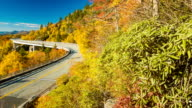 Scenic View of Linn Cove Viaduct on Blue Ridge Parkway video