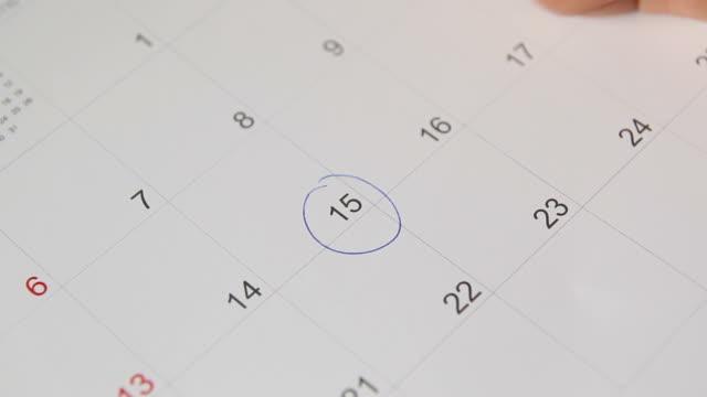 schedule on calendar video