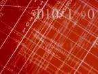 Schematic red blueprint video