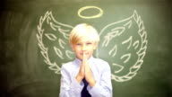 School Boy Angel With Wings video