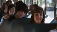 School Bus Kids Throw Trash video