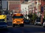 School Bus Small Town Traffic DesMoines IOWA 1 video