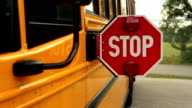 School Bus Stop Sign video