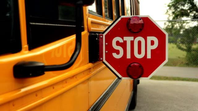 School Bus Stop Sign video