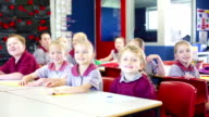 School Children Answering Questions in the Classroom video