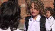 School Students Having A Disagreement video