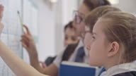 Schoolchildren Looking at New Timetable before Classes video