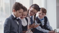 Schoolchildren Relaxing After Lessons video