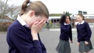 Schoolgirl Being Bullied In Playground video