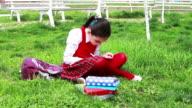 Schoolgirl in the park video