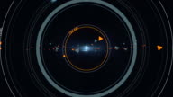 Sci Fi futuristic Head Up Display Background video