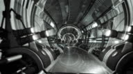 Science fiction spaceship tunnel ride. video