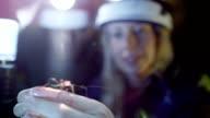 Scientific cave exploration video