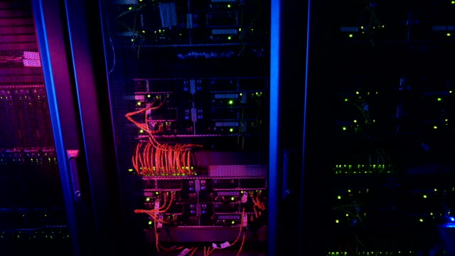 Scientific data center Servers front trail video