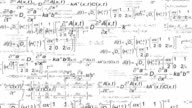 Scientific equations background video