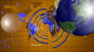 Scientific study the planet Earth on the monitor. Rotating Whiteboard. video