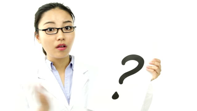 scientist doctor isolated confused with question mark sign video