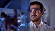 CU Scientist Doing Research On Futuristic Laboratory video