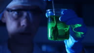 Scientist is working in medical laboratory video