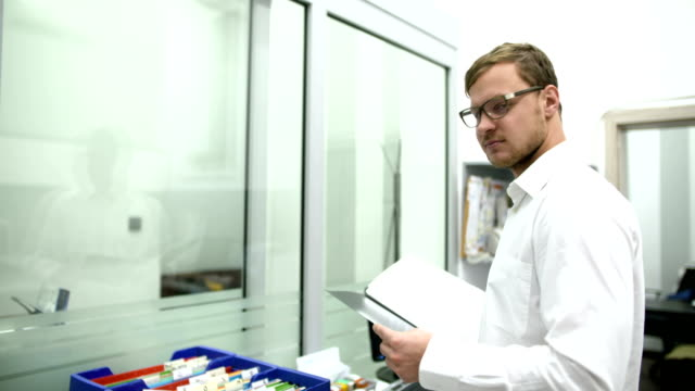 scientist working in laboratory video