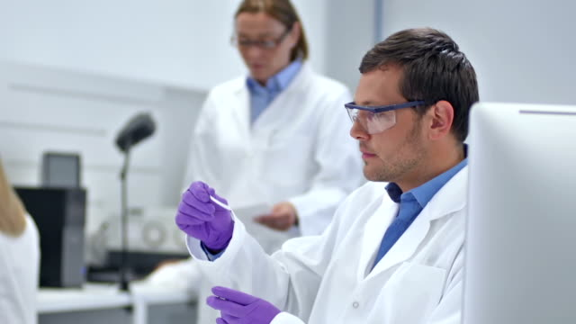 MS Scientist Working In The Laboratory video