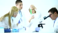 Scientists in a chemical laboratory. video