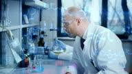 Scientists in modern laborator video