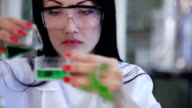 Scientist's researches in microbiology video