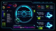 Sci-fi computer interface video