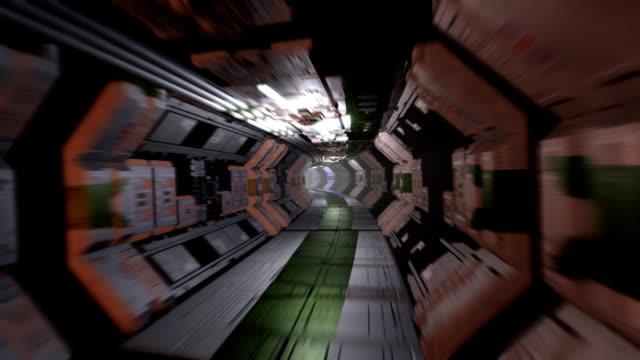 Sci-Fi Corridor with doors video