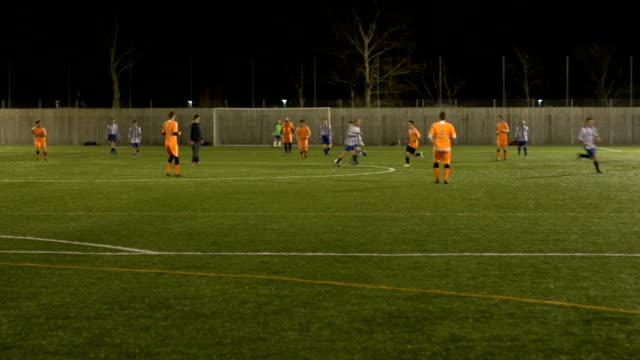 Scoring a goal in a Soccer / Football Match video
