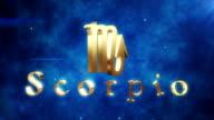 Scorpio (Zodiac Air Sign) | Loopable video